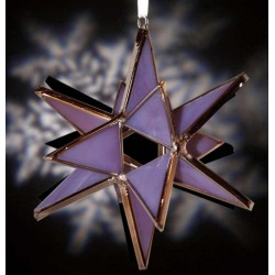 Purple Opaque Glass Ornament