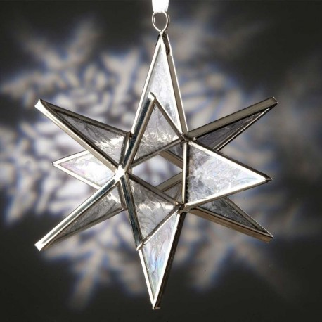 Clear Snowflake Glass Ornament