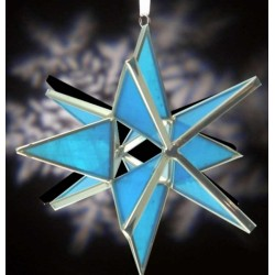 Turquoise Blue Glass Ornament