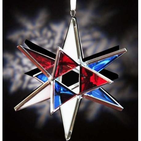 Red, White, & Blue Glass Ornament