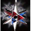 Red White & Blue Glass Ornament
