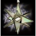White Iridescent Opaque Glass Ornament