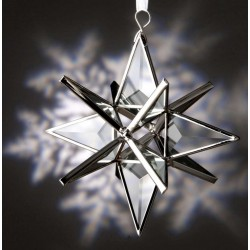 Clear Beveled Glass Ornament