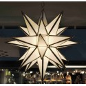 White Opaque Glass Lighted Star w/26 points