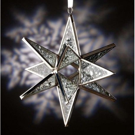 Clear Sparkle Glass Ornament
